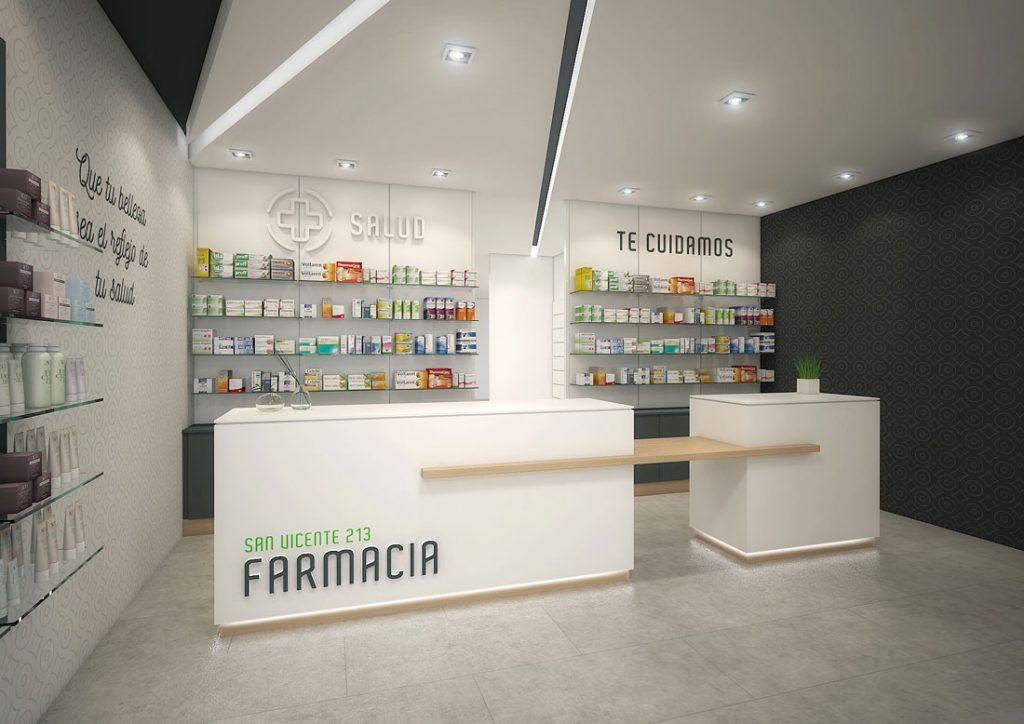 Mostrador farmacia San Vicente